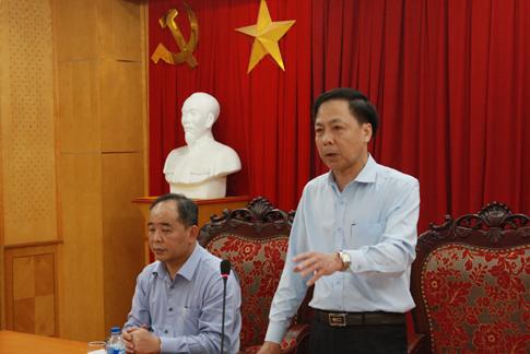 Phó Tổng TTCP Trần Ngọc Liêm chủ trì công bố quyết định thanh tra. (Nguồn: thanhtra.gov.vn).