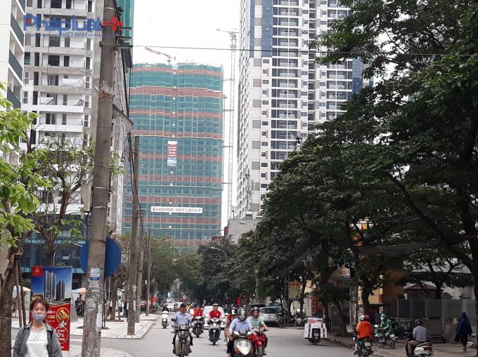 Dự án nhìn từ đường Nguyễn Tuân.