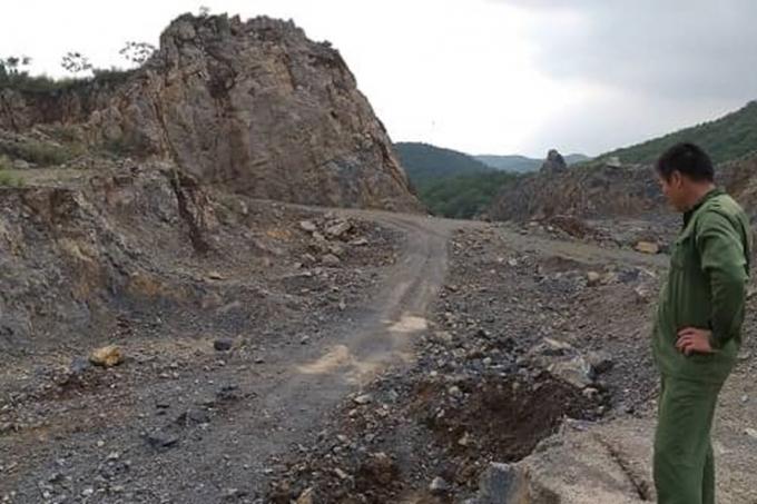 Hầu hết các đơn vị đều vi phạm về khai thác đá sai thiết kế đã được phê duyệt.