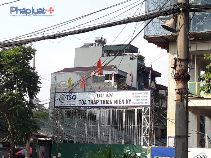 Cổng dự án trên đường Chu Văn An.