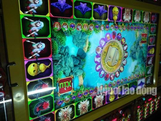 Máy chơi game quay thú ăn tiền chỉ xuất hiện ở các tụ điểm casino nhưng có dán em kiểm định của Sở VH-TT-DL Bạc Liêu.