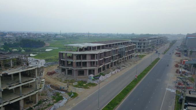 Trung tâm thương mại đang có nhiều khiếu kiện, tố cáo tại xã Tân Tiến, huyện Vĩnh Tường.