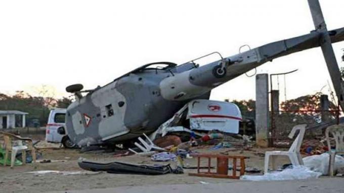Một máy bay quân sự MI-2 của Nga, hôm nay (21/6), gặp nạn ở vùng lãnh thổ Krasnodar miền nam nước này khiến phi công thiệt mạng. Ảnh: Urdupoint