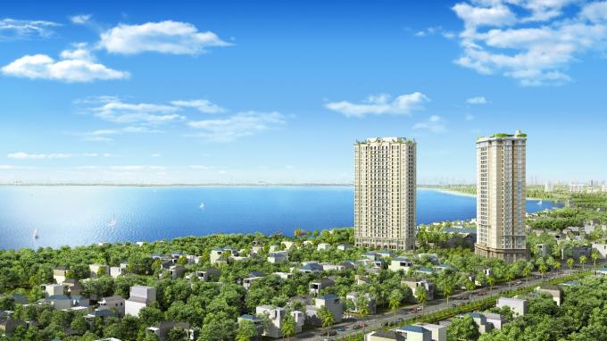 D'. El Dorado I – dự án sở hữu các căn hộ Dual Key kế bên hồ Tây.