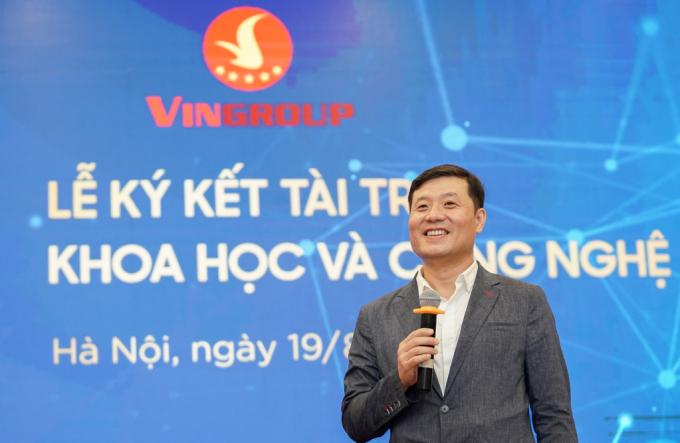 Giáo sư Vũ Hà Văn cho biết, Quỹ đổi mới Sáng tạo Vingroup mong muốn góp phần hỗ trợ các nhà khoa học Việt Nam thực hiện thành công những dự án xuất sắc, có tầm ảnh hưởng lớn.