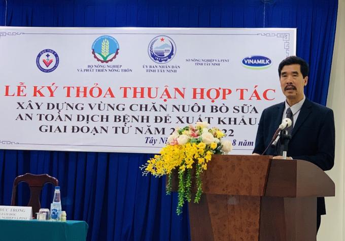Ông Nguyễn Quốc Khánh – Giám đốc Điều hành Nghiên cứu & Phát triển Vinamilk phát biểu tại buổi lễ.