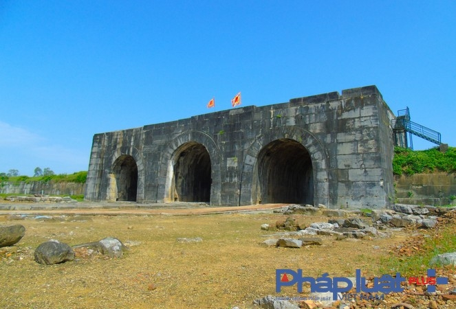Cổng thành phía Nam là cổng chính dẫn vào Hoàng thành ( Ảnh:Hà Đương)
