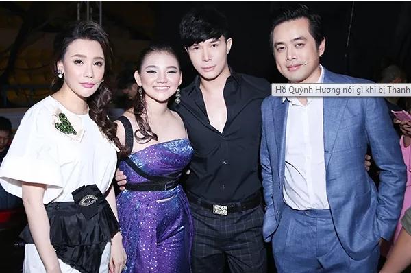 Cô trò Hồ Quỳnh Hương bên cố vấn Nathan Lee và giám khảo Dương Khắc Linh
