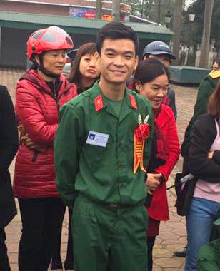 Tân binh Nguyễn Minh Quân. Ảnh:NVCC
