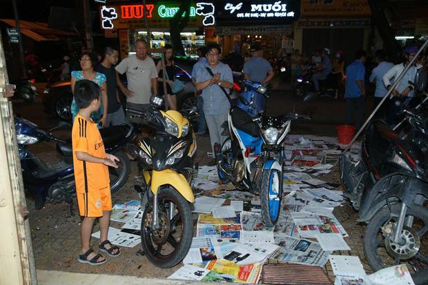 Trước của quán của Phạm Hương khi xảy ra vụ việc. Ảnh: Vũ Doãn Đào