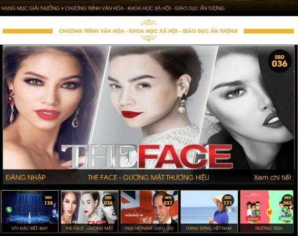 The Face nằm trong danh sách đề cử tại Ấn tượng VTV 2017.