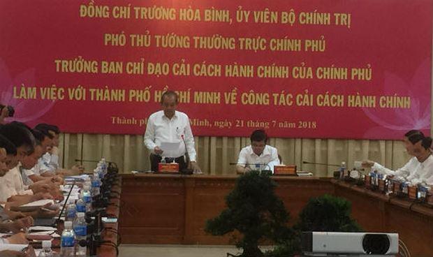 Phó Thủ tướng Trương Hòa Bình làm việc với UBND TP.HCM