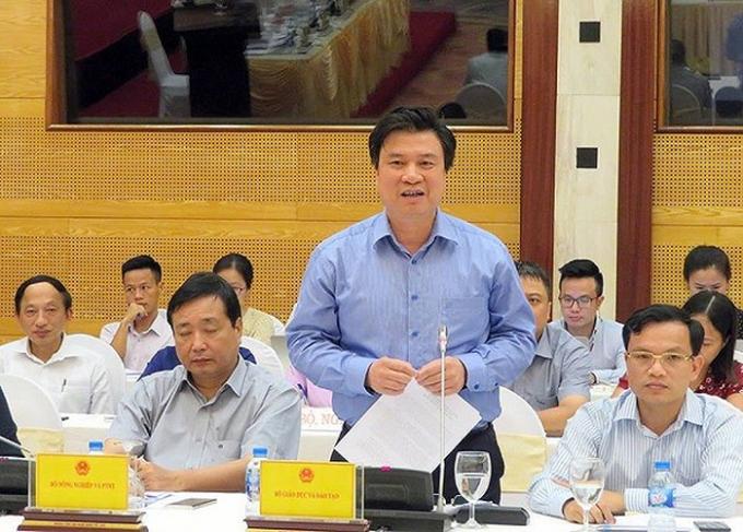 Thứ trưởng Bộ GD&ĐT Nguyễn Hữu Độ.