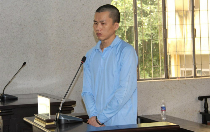 Bị cáo Trần Kiêm Hoàng tại tòa.
