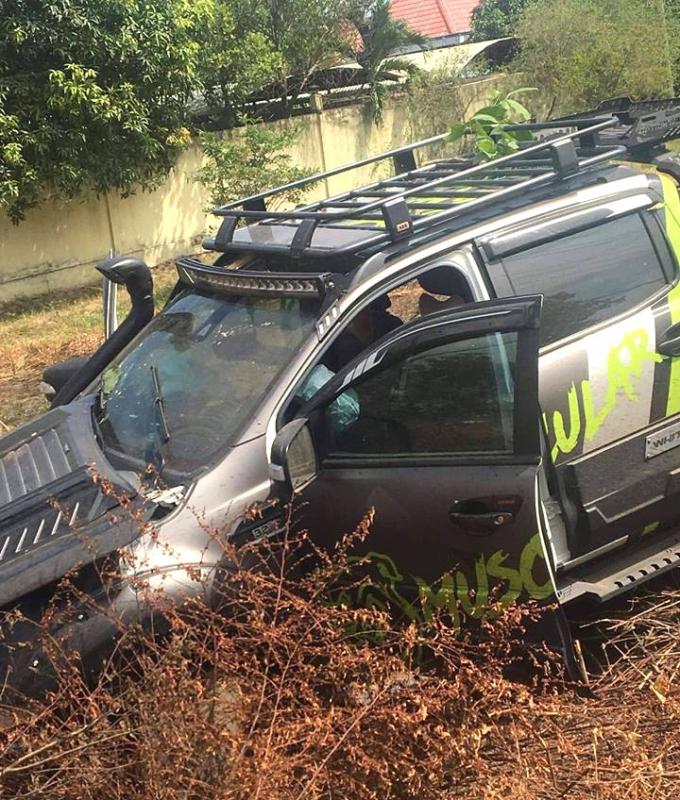 Chiếc xe bán tải gây tai nạn..