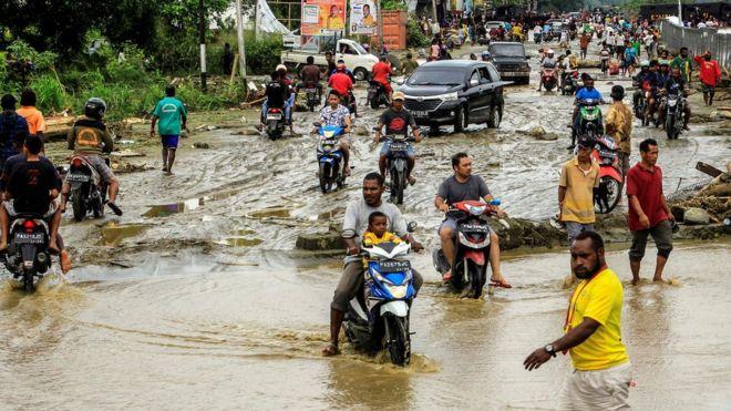 Sentani là nơi chịu hậu quả nghiêm trọng nhất. Nguồn: EPA.