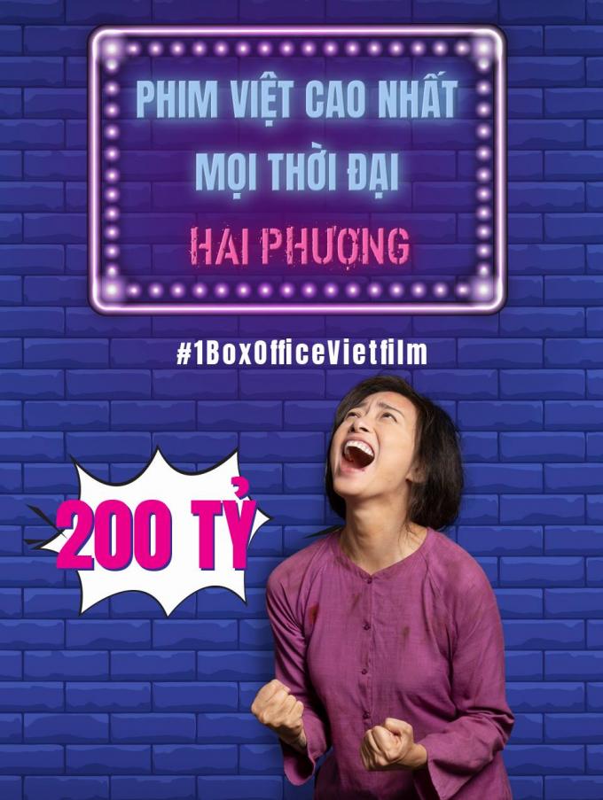 Hai Phượng chính thức trở thành phim Việt có doanh thu cao nhất lịch sử với 200 tỷ đồng
