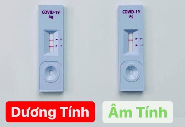 Kit xét nghiệm nhanh SARS-CoV-2 được quảng cáo có kết quả dễ như... thử thai. Ảnh Gia đình.net.vn