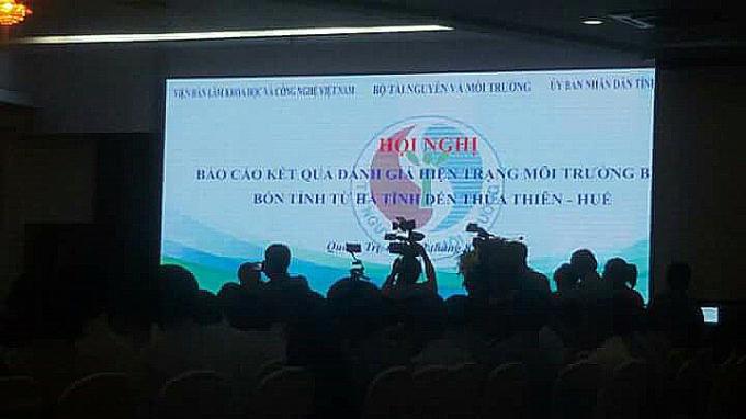 Hội nghị công bố kết quả đánh giá hiện trạng môi trường biển bốn tỉnh từ Hà Tĩnh đến Thừa Thiên - Huế sáng 22/8.