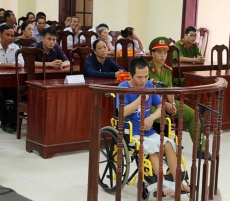 Bị cáo Nguyễn Gia Hải tại phiên tòa xét xử.