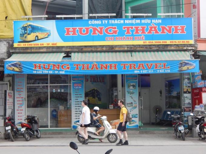 Chi nhánh Công ty TNHH Hưng Thành tại Huế.
