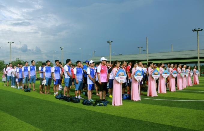 Lễ khai mạc được diễn ra vào lúc 15h chiều nay với 8 đội tham gia tranh tài.