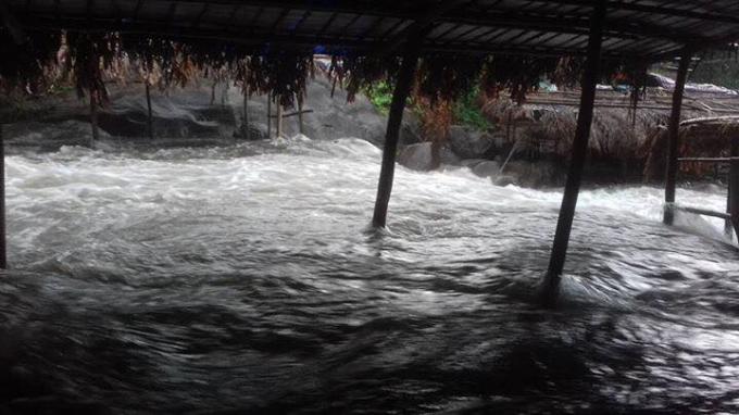 Ông Nguyễn Thanh Tâm – Trưởng ban quản lý Khu nghỉ mát Suối Voi cho biết; hiện tượng xảy ra chiều hôm qua tại suối Voi là khá bất thường.(Ảnh: FB Trần Anh Khoa)