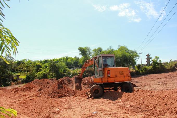 Khu vực được khai quật đầu tiên để tìm tấm bia đá.