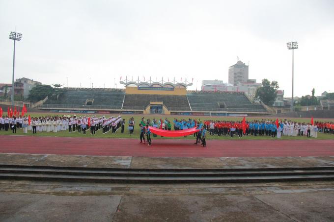 Đại hội thu hút 13 đoàn vận động viên tham gia.