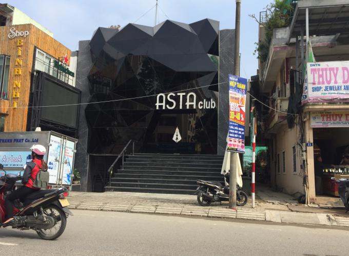 Asta Club, nơi xảy ra vụ việc.