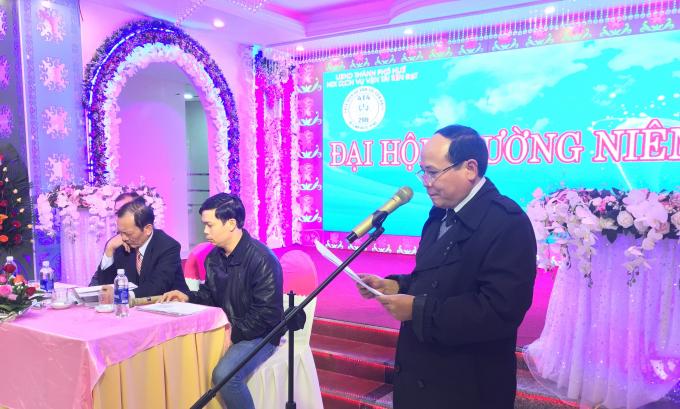 Ông Trần Hưng Thành - Trưởng ban điều vận đang điều hành đại hội.