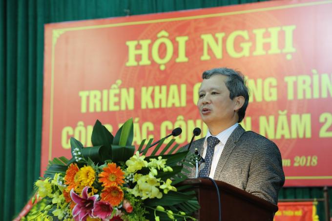 Đồng chí Lê Trường Lưu - UVTW Đảng, Bí thư Tỉnh uỷ, Chủ tịch HĐND tỉnh TT. Huế phát biểu chỉ đạo tại hội nghị.