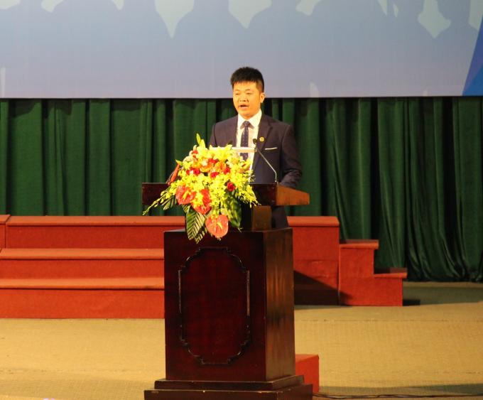 Ông Nguyễn Anh Vũ - GĐ Chi nhánh ICO Thừa Thiên Huế phát biểu tại buổi Lễ.