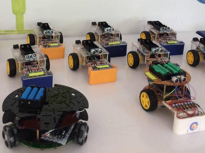 Các robot sẽ được sử dụng trong cuộc thi.