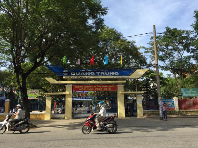 Trường tiểu học Quang Trung, TP Huế xảy ra tình trạng thu sai tiền đầu năm học 2018 - 2019