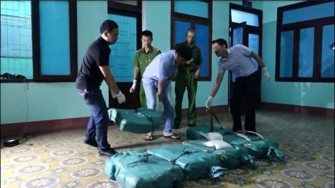 Hơn 300kg ma túy đá được phát hiện.