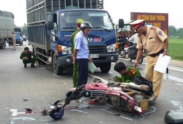 Hiện trường một vụ tai nạn nghiêm trọng.