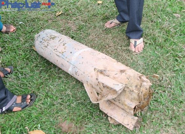 Qủa bom được phát hiện trong tình trạng chưa phát nổ.