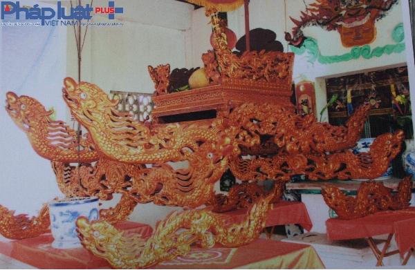 Nguyên bản chiếc kiệu cổ làng Trung Vực Ngoài.