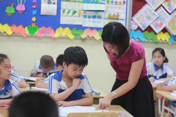 Học sinh tiểu học ở Hà Nội thường học bán trú 2 buổi/ngày. Ảnh: Hải Nguyễn.