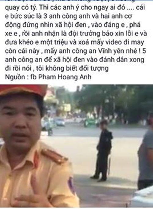 Hình ảnh CSGT tỉnh Vĩnh Phúc bị