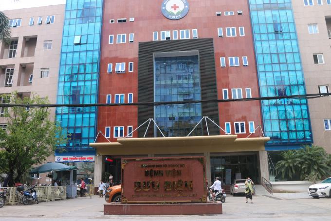 Bệnh viện Bưu điện nơi xảy ra sự việc trên.