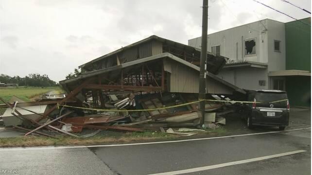 Siêu bão Jebi đã gây thiệt hại nặng sau khi nó đi qua.