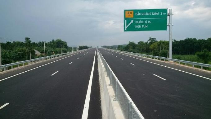 Dự án đường cao tốc Đà Nẵng - Quảng Ngãi. Ảnh: V.LONG