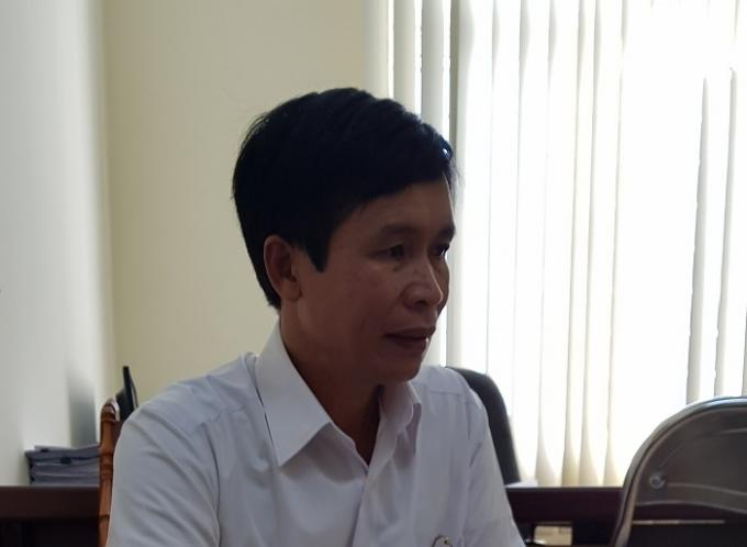 Ông Ngô Minh Cương, Chủ tịch UBND xã Thanh Xương, huyện Điện Biên làm việc với phóng viên Pháp luật Plus.