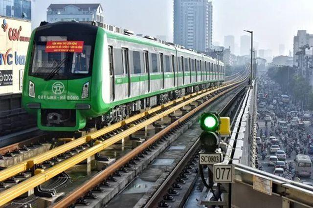 Đường sắt Cát Linh-Hà Đông. Ảnh: Dân trí