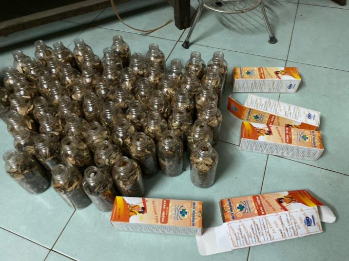Sản phẩm được thu giữ tại Công ty Thảo dược An Khánh Tâm