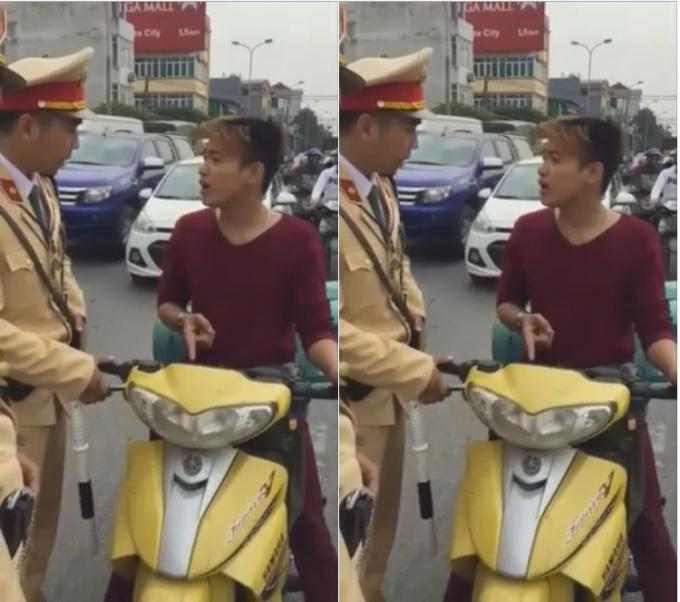 Nam thanh niên vi phạm cố cãi cùn kêu CSGT là cướp xe.