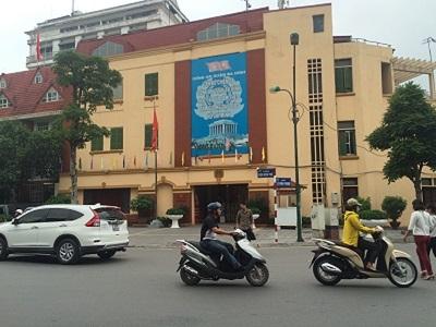 Trụ sở công an quận Ba Đình.