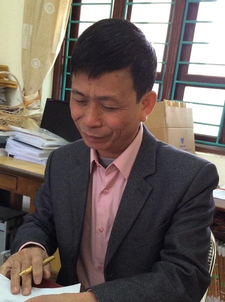 Ông Nguyễn Huy Hoán - Phó Chủ tịch UBND xã An Khánh.(Ảnh Đ.Quyết)